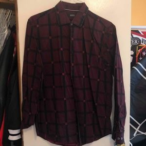 Burgundy Alfani Button Down Shirt